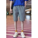 Men's Summer Trendy Plaid Pattern Casual Relaxed Shorts