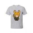 New Trendy Funny Cartoon Comic Character Print Short Sleeve T-Shirt
