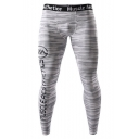 Men's Popular Fashion Letter Camouflage Printed Quick-drying Skinny Training Pants