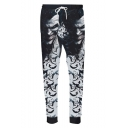 Popular Fashion Movie Character 3D Printed Drawstring Waist Grey Casual Joggers Sweatpants