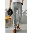 Men's Popular Fashion Simple Plain Slim Fitted Business Dress Pants