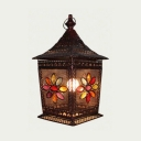 Metal Gazebo Table Lamp with Multi-Color Blossom Single Light Moroccan Turkish Night Light for Restaurant