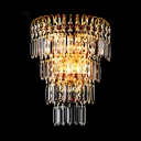 Clear Crystal LED Wall Sconce Luxurious Style Metal Sconce Lamp for Bedroom Dining Room