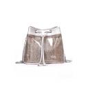 Summer Fashion Plain Transparent Pearl Embellishment Crossbody Bucket Bag 21*18*14 CM