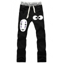 Popular Fashion Anime Grimace Eyes Printed Drawstring Waist Casual Sports Sweatpants