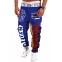 Men's Popular Fashion Letter Graphic Painted Drawstring Waist Loose Fit Casual Sweatpants