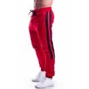 Men's Basic Fashion Stripe Side Zipped Pocket Rivet Embellished Drawstring Waist Casual Sweatpants