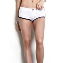 Womens Sexy Contrast Trim Low-Rise Night Club Skinny Fit Hot Pants Shorts
