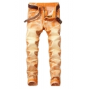 Men's New Fashion Cool Washed Stretch Regular Fit Trendy Jeans