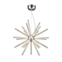 Metallic Sputnik Hanging Lamp Contemporary Multi Light LED Chandelier Light in Chrome