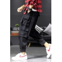 New Fashion Solid Color Multi-pocket Trendy Casual Cargo pants for Men