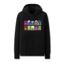Popular Fashion Game Figure Printed Long Sleeve Casual Loose Pullover Hoodie