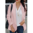 New Trendy Women Open-Front Long Sleeve Solid Color Blazer