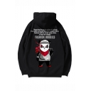 Unisex New Fashion Cartoon Panda Letter Printed Long Sleeve Casual Sports Pullover Hoodie