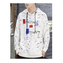 Letter REVOLUTION 6 OR FREEDOM 7 Printed Long Sleeve Casual Pullover Hoodie