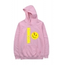 Popular Fashion Letter WATCHMAN Emoji Printed Long Sleeve Unisex Casual Sports Pullover Hoodie with Pocket