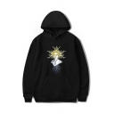 Popular Midsommar Figure Printed Long Sleeve Casual Sports Pullover Hoodie with Pocket