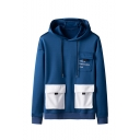 New Fashion Letter Printed Multi-pocket Embellished Long Sleeve Casual Sports Hoodie