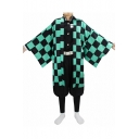 Mens Hot Popular Comic Cosplay Costume Kimono Seven-Piece Coat Set