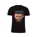 Mens Short Sleeve Round Neck Printed Funny T Shirt