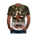 New Trendy Short Sleeve Round Neck Printed Cool Unique Tee