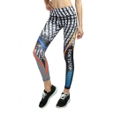 DON'T STOP Letter Color Block Sport Athletic Pants Gym Fitness Yoga Leggings