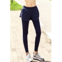 New Stylish Fake Two-Piece Elastic Waist Zip Side Quick Dry Athletic Pants Yoga Leggings