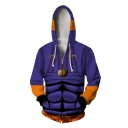 JoJo's Bizarre Adventure Comic Cosplay Costume Long Sleeve Purple Zip Up Hoodie