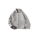 Guys New Style Fashion Plain Long Sleeve Lapel Collar Single Breasted Casual Jacket Coat