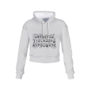 White Long Sleeve Stranger Things Letter Printed Cropped Pullover Hoodie