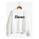 Cartoon Figure Printed Mock Neck Long Sleeve Pullover Sweatshirt
