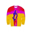 American Popular Pop Singer 3D Printed Long Sleeve Relaxed Fit Pullover Sweatshirts