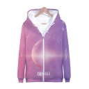 Hot Fashion Kpop Group BTS Galaxy Planet 3D Printed Long Sleeve Zip Up Hoodie