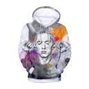 Hot Popular American Rapper Singer 3D Printed Long Sleeve Pullover Unisex Gray Casual Hoodie