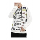 New Fashion Letter FIRE CRAZY All-Over Printed Long Sleeve Casual Pullover Hoodie