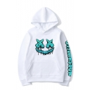 Hot Fashion Smiley Face Letter Printed Long Sleeve Casual Sports Pullover Hoodie