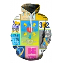 HH Series You Can Be Anything You Want To Be Letter Floral Printed Casual Leisure Hoodie