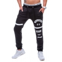 Men's Popular Fashion Graphic Printed Drawstring Waist Casual Relaxed Fit Training Sweatpants