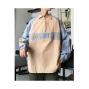 New Trendy Letter SUMR Colorblock Printed Long Sleeve Zip Closure Lapel Collar Casual Outdoor Loose Jacket