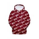 Hot Popular Kpop Boy Group Got7 Long Sleeve Unisex Red Casual Loose Pullover Hoodie