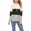 New Trendy Color Black Long Sleeve Relaxed Pullover Hoodie