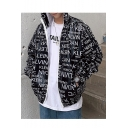 Summer Fashion Letter Printed Long Sleeve Hooded Zip Placket Sun Protection Reflective Casual Coat