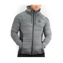 New Trendy Plain Long Sleeve Zip Up Casual Drawstring Hooded Sports Outdoor Jacket For Men