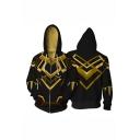 Hot Popular 3D Printed Comic Cosplay Costume Long Sleeve Zip Up Hoodie