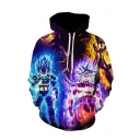 Hot Fashion Cool Comic Character Fire 3D Printed Long Sleeve Drawstring Hoodie