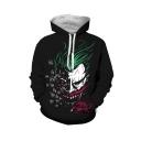 New Arrival Cool Fashion HAHA Joker 3D Printed Long Sleeve Unisex Black Loose Hoodie