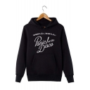 PANIC AT THE DISCO Letter Printed Long Sleeve Casual Sports Unisex Pullover Hoodie with Pocket