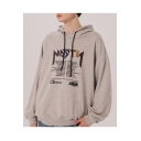 Unisex New Stylish Letter Printed Long Sleeve Loose Fit Sports Hoodie