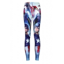 Womens Print Tight Cropped Leggings