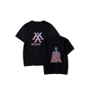 Summer Kpop Boy Group Logo Print Loose Short Sleeve Round Neck T-Shirt